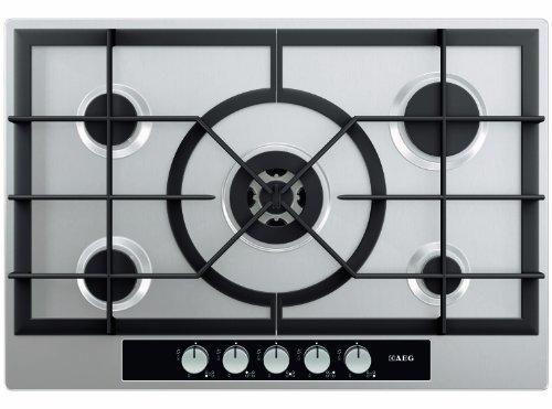 AEG HG 755440 SMD Kochfeld / Gas / Elektro-Takt-Funkenzündung / automatische Abschaltung / Griffsichere Schalter / Thermosicherung / 74.4 cm