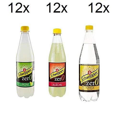 Testpaket Schweppes Zero getönten ohne zucker Erfrischend 36 x 0,6l