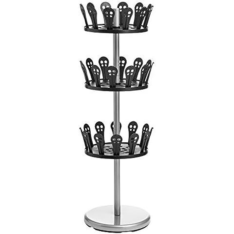 Premier Housewares - Scarpiera girevole a 3 livelli, colore: nero