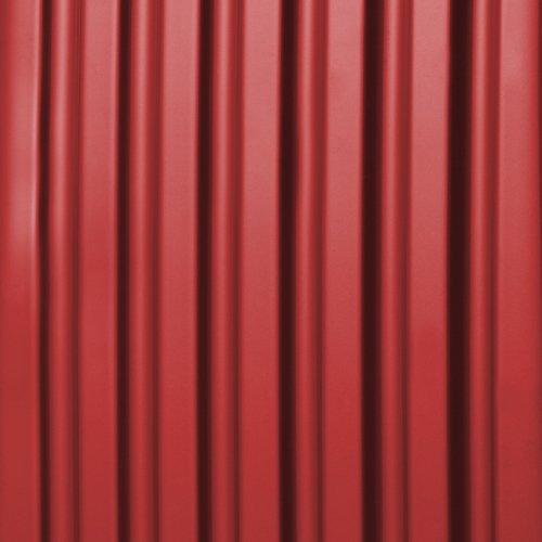 HAUPTSTADTKOFFER - Alex - Set di 3 valigie, TSA, Nero brillante, (S, M & L), 235 litri, Colore Rosso