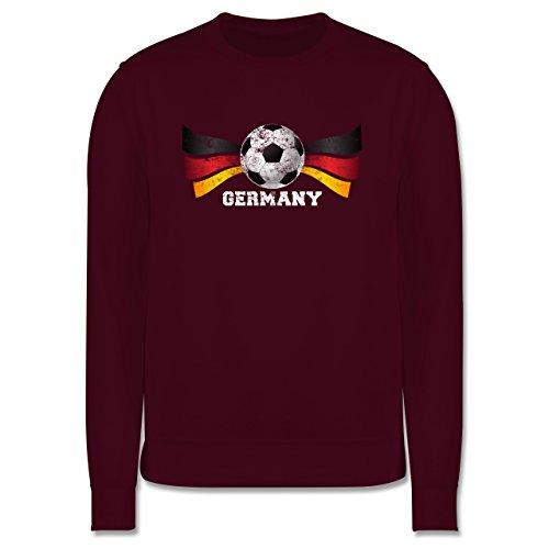 EM 2016 - Frankreich - Germany Fußball Vintage - Herren Premium Pullover Burgundrot