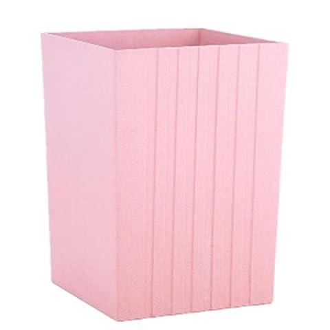 LIYONGDONG® Trash Trash Trash Creative Poubelle Ménage Cuisine Salon Toilettes Environnement Plastique Poubelle Grand Rose Réservoir de stockage