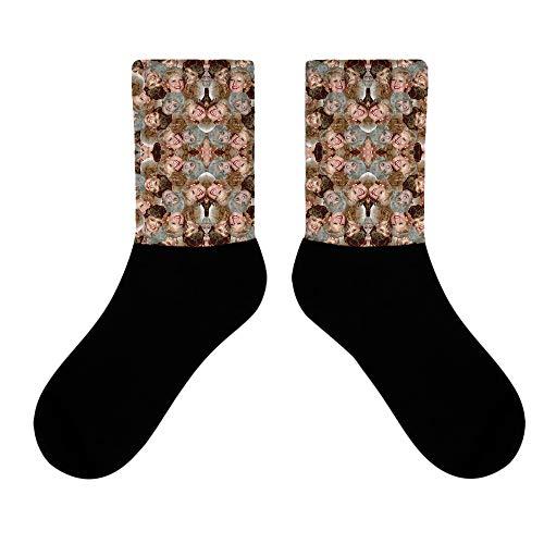 fiosoji Comfort Sneaker Socken Schwarz & Weiß Damen & Herren Bunt Bester Qualität Atmungsaktiv 3D Baumwolle Lässig Bequeme Business Sportsocken Baumwolle