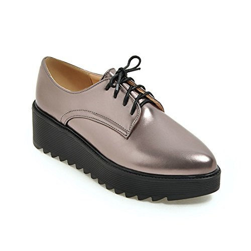 Spring Chaussures pour femmes/Tête ronde bracelet chaussures plate-forme/Étudiant cales chaussures d'Angleterre A