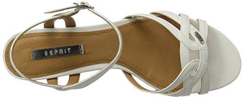 ESPRIT Damen Birkin Sandal Offene Sandalen Weiß (110 Off White)