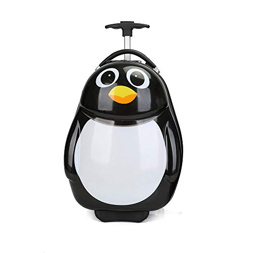 YCYHMYF Cartone Animato Pinguino Madre Animale Carino Guscio d'uovo Zaino Bambino Trolley (16 Pollici)