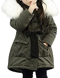 Babykleidung Jacke ❀❀ JYJMBaby Mädchen Fell Kapuze Tops Jacke Gefütterte  Mantel Kinder Lange Dicke Warme Jacke Parkas (Größe … b1c18ade8a