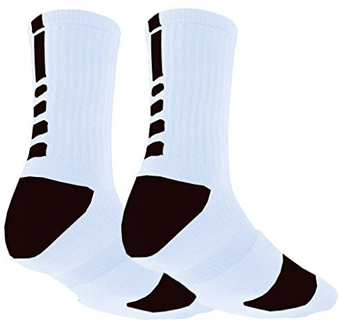 Mens Sports Socks Mid Calf Non Slip Cushion Crew Sports Grip Comprssion  Socks with Gripping Rubber 226b96427b7