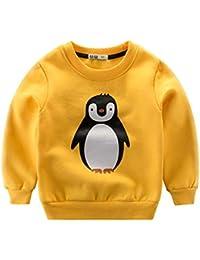 K-youth Sudadera para Niños - Sweat Shirt Sudadera Niñas Ropa Bebe Niña Otoño Invierno Dibujos Animados Caliente Blusas