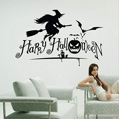 captain_y Wandaufkleber Halloween Hexe Kreative PVC Wohnzimmer Home Schlafzimmer Dekoration Aufkleber Abziehbilder Selbstklebende Kunst Abnehmbare Wasserdicht
