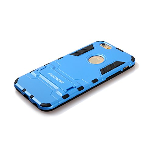 iPhone 6S Plus Hülle, Pasonomi® [Outdoor] [Heavy Duty] [Dual Layer] Ultra-dünne Schutzhülle Case Cover mit Ständer für Apple iPhone 6 Plus (2014) / iPhone 6S Plus (2015) (Kickstand-Rot) Kickstand-Blau