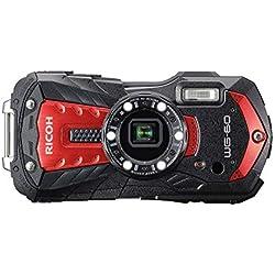 RICOH WG-60 Rouge Compact 16 Mp, étanche 14mètres, résistant aux chocs (1, 60m), mode sous-marin avec éclairage LED (x6) pour la macro photographie