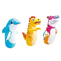 Color Baby - Inflatable animal, rattle, random models, 1 unit
