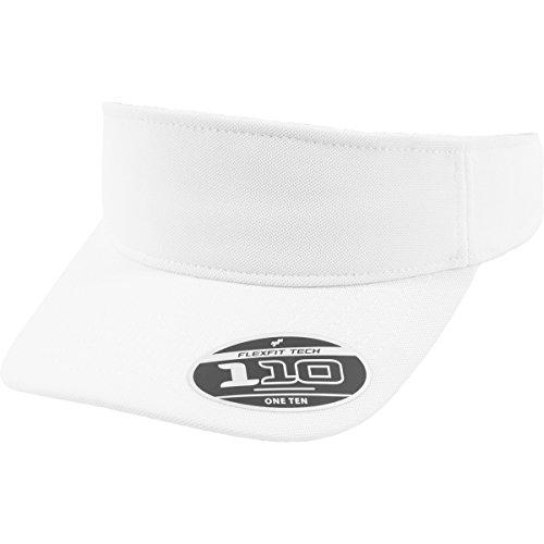Flex fit 110 Visor White One Size Casquette Unisex-Adult