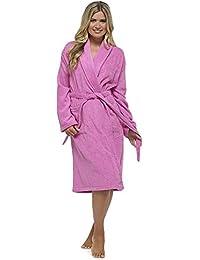 9b660022fb Ladies Luxury 100% Cotton Towelling Bath Robe Dressing Gown Wrap Nightwear  Hooded   Non Hooded