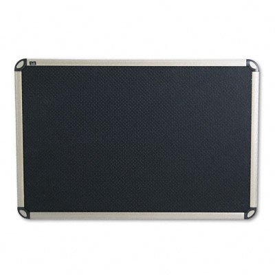 Quartet Prestige Euro Black Embossed Foam Bulletin Board, 3 x