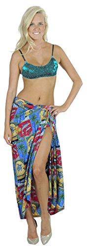 wickeln Badeanzug Bikini Pareo Badeanzug decken Badebekleidung Pool Resort Strandkleid Damen Sarong Rot