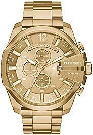 ساعة انالوج ستانلس ستيل للرجال من ديزل بمينا ذهبية اللون - DZ4360