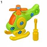 AchidistviQ Kinder-Puzzle für frühes Lernen, Flugzeug, Demontage, Lernspielzeug, Plastik, Helicopter