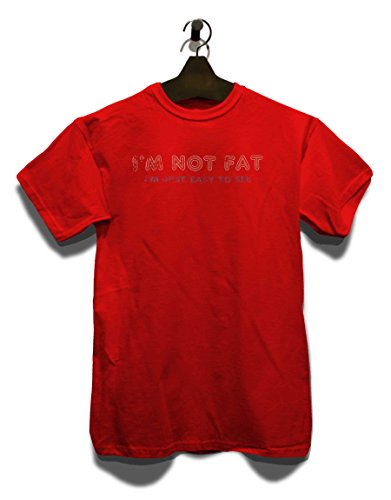 Im Not Fat Im Just Easy To See Vintage T-Shirt Rot
