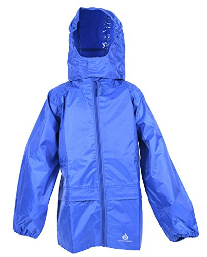 Dry Kids packable jacket royal blue 11/12yrs