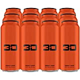 3D Energy Drink | Cafeïne, Nul Suiker, Taurine, Panax Ginseng, Inositol, Guarana Seed, L-Carnitine Tartraat, 12 x 473ml, Oran