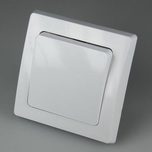 DELPHI Wechsel-Schalter, 250V~/ 10A, inkl. Rahmen, UP, weiß