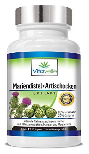 Mariendistel + Artischocke Mariendistel Komplex Ultra Forte 90 Kapseln Hoch konzentriert Das Mariendistel und Artischocke Extrakt ergänzt die gesunde Ernährung optimal!