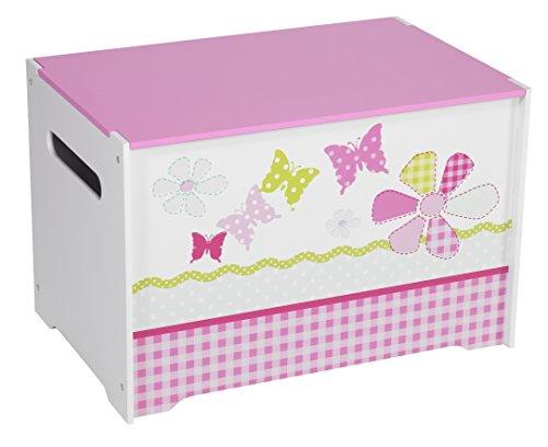 Schmetterlinge und Blumen - Spielzeugkiste für Kinder - Aufbewahrungsbox für das Kinderzimmer -