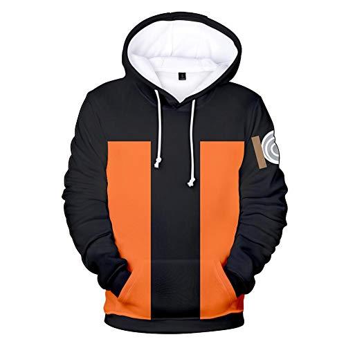 NJunicorn Uncle Naruto Kapuzenpullover Hokage Unisex Hoodie 3D Carton Pulli Casual Langarm Pullover Anime Pulli Outwear (02, M)