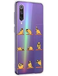 Oihxse Transparente Funda para Xiaomi Mi CC9PRO/NOTE10PRO/NOTE10 Ultrafina Silicona Suave TPU Carcasa Interesante Perro Patrón Flexible Protectora Estuche Antigolpes Anti-Choque (A2)