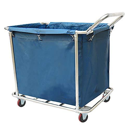 4-korb-speicher-warenkorb (Unbekannt YXX-Wäschewagen Wäscherei-Sortierer-Warenkorb des Ausgangs1 Beutel mit Griff, Handelshauptwäscheraum-Kleidungs-Speicher-Korb mit Rollen-Rädern (Color : Blue, Size : 4 Tube))