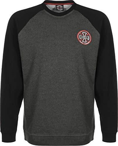 Independent Hollow Cross Crew Black/Charcoal Heather Sweater Größe XL (Cross Sweatshirt Herren)