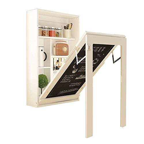 YOUXD TABLE Wand-Esstisch, kompakter, klappbarer, umwandelbarer Werkbankablage Multi-Funktions-Computertisch 90 x 48 x 73 cm - Weiß Birkenfurnier