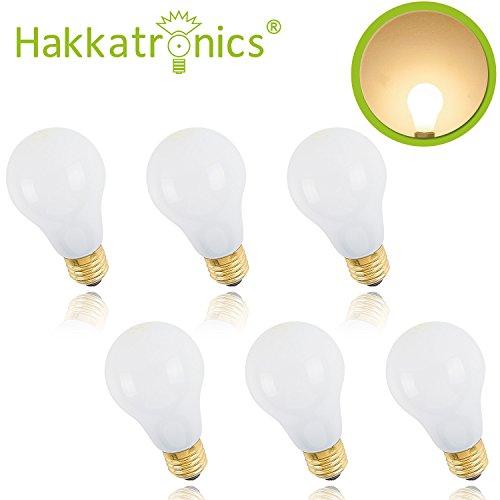 Hakkatronics 8W E27 Reflektor LED-Lampen, 51W Glühlampe Equivalent, 700lm, Warmes Weiß, 2800K, LED-Leuchtdioden 200-240V Nicht dimmbar (6 Packs)
