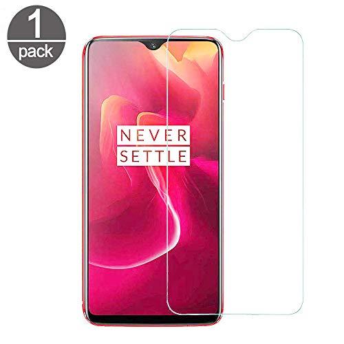 Superyong Proteziones chermo OnePlus 6T,OnePlus 6T vetro temperato [Durezza 9H] [Clear Crystal] [Resistenteaigraffi] [Senzabolle] [Installazione facile] per OnePlus 6T Phone-(1pack)