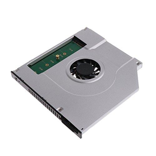 Moligh doll Laptop Interner Kuehlventilator Innerer CPU-Kuehler Heizkoerper 2. M2 M.2 NGFF SSD Caddy-Festkoerper-Festplattengehaeuse-Adapter 9.5mm SATA CD DVD Optisches Laufwerk Bay Ersatz