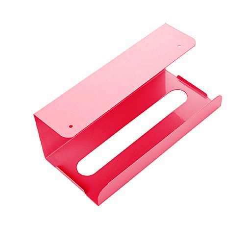 Gewebepapier Holder Iron Storage Case Frame Home Hotel Kitchen Cabinet Hanging Box-Light Blue/Light Pink