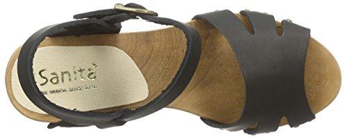 Sanita Pax Chunk Sandal Damen Plateau Sandalen mit Blockabsatz Schwarz (Black 2)