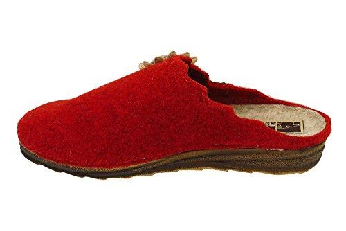 Manitu home pantolette pour femme Rouge - Rouge