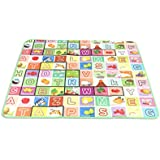 KWT Double Sided Water Proof Baby Mat Carpet Baby Crawl Play Mat Kids Infant Crawling Play Mat Carpet Baby Gym Water Resistant Baby Play & Crawl Mat(Large Size - 4 Feet X 6 Feet)