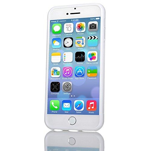 iPhone 8 / 7 Hülle Handyhülle von NICA, Ultra-Slim Silikon Case Gummihülle, Matter Anti-Rutsch Schutz Dünn, Etui Handy-Tasche Back-Cover Bumper für Apple iPhone-7 / 8 Smartphone - Transparent Weiß