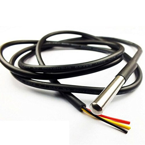Bobury DS18B20 Emballage en acier inoxydable 1 compteur étanche DS18b20 Capteur de sonde de température 18B20