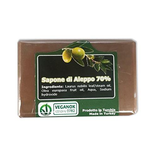 Sapone di Aleppo con 70% Olio d'Alloro - metodo tradizionale - Aleppo puro e naturale, ricetta originale - confezione risparmio