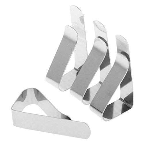 Lunji Tischtuch Klammer Tischdeckenklammer - 4 Stück Edelstahl Klammer Befestigen Tischdecke Clips