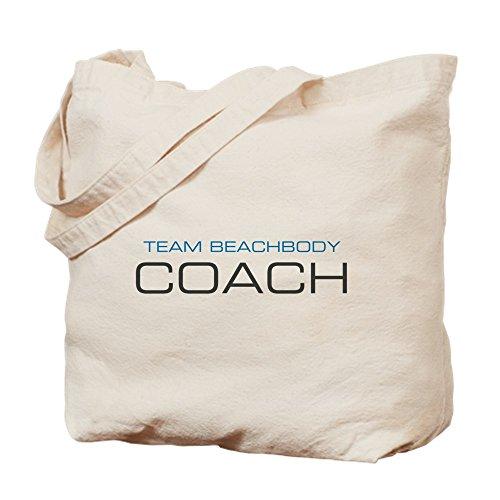 CafePress–zentriert Beachbody Team BeachbodyWorkouts Coach Logo blau TOP–Leinwand Natur Tasche, Reinigungstuch Einkaufstasche S khaki (Khaki Tasche Coach)