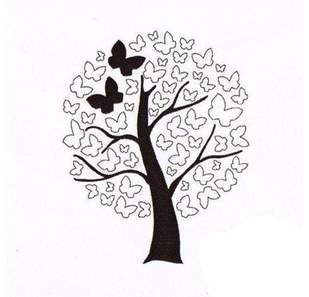 """Aladine 01548 Stempel""""Baum mit Schmetterling"""""""
