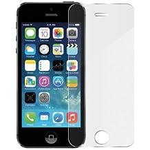 Monoprice - Protector de pantalla para iPhone 5/5S/5C (cristal templado, con gamuza limpiadora)