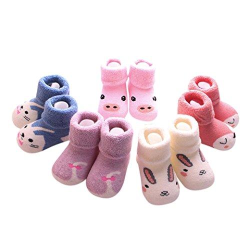 Baby Socken, Süß Lieblich Warme Cartoon Wintersocken (0-1T, C) (Türkei Baby-kostüm)