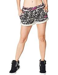 Zumba Fitness City Swag Pantalones Cortos, otoño/invierno, mujer, color Back To Black, tamaño M